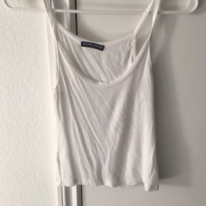 BRANDY MELVILLE -Small-white fitted & cropped tank